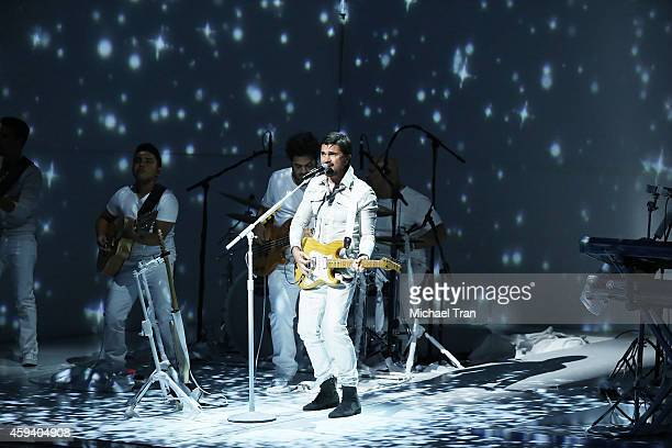 Juanes performs onstage during the 15th Annual Latin GRAMMY Awards held at the MGM Grand Arena on November 20 2014 in Las Vegas Nevada