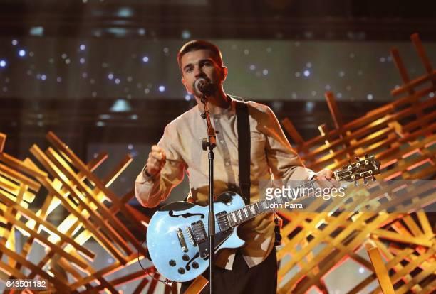 Juanes rehearses on stage at Univision's 29th Edition Of Premio Lo Nuestro A La Musica Latina Rehearsals Day 2 on February 21 2017 in Miami Florida