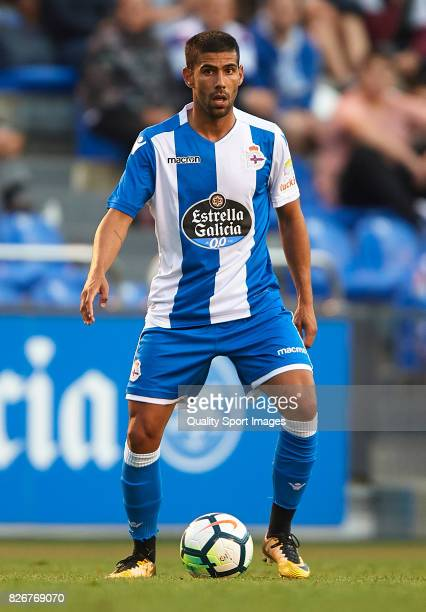 Juanfran Moreno of Deportivo de La Coruna in action during the Pre Season Friendly match between Deportivo de La Corua and West Bromwich Albion at...