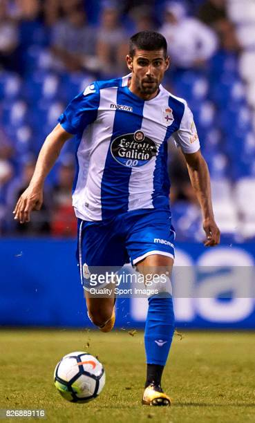Juanfran Moreno of Deportivo de La Coruna in action during the Pre Season Friendly match between Deportivo de La Coruna and West Bromwich Albion at...