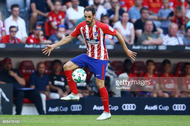 Juanfran of Atletico de Madrid during the first Audi Cup football match between Atletico Madrid and SSC Napoli in the stadium in Munich southern...