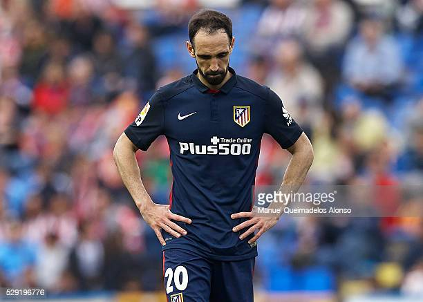 Juanfran of Atletico de Madrid reacts during La Liga match between Levante UD and Atletico de Madrid at Ciutat de Valencia on May 8 2016 in Valencia...
