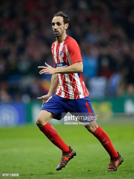 Juanfran of Atletico Madrid during the Spanish Primera Division match between Atletico Madrid v Real Madrid at the Estadio Wanda Metropolitano on...