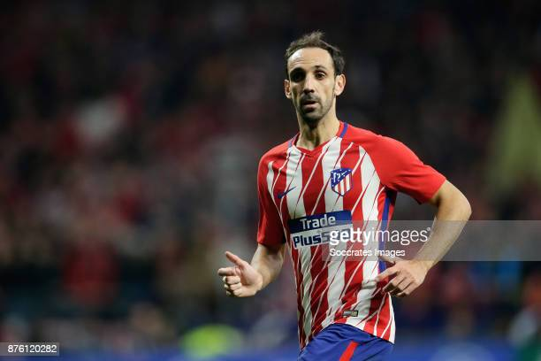 Juanfran of Atletico Madrid during the Spanish Primera Division match between Atletico Madrid v Real Madrid at the Estadio Wanda Metropolitano on...