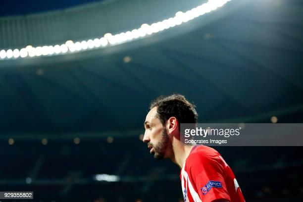 Juanfran of Atletico Madrid during the UEFA Europa League match between Atletico Madrid v Lokomotiv Moscow at the Estadio Wanda Metropolitano on...