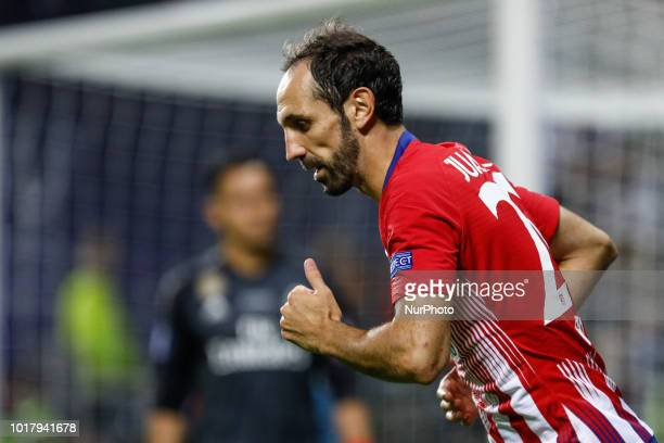 Juanfran of Atletico Madrid during the UEFA Super Cup match between Real Madrid and Atletico Madrid on August 15 2018 at Lillekula Stadium in Tallinn...