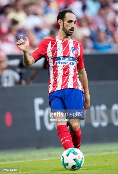 Juanfran of Atletico Madrid runs with the ball during the Audi Cup 2017 match between Club Atletico de Madrid and SSC Napoli at Allianz Arena on...