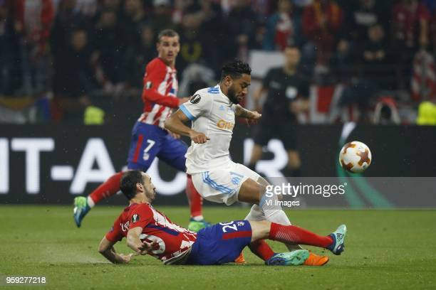 Juanfran of Club Atletico de Madrid Jordan Amavi of Olympique Marseille during the UEFA Europa League final match between Olympique Marseille and...