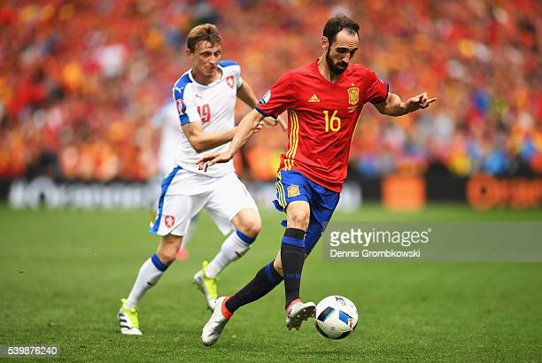 Juanfran of Spain in action during the UEFA EURO 2016 Group D match between Spain and Czech Republic at Stadium Municipal on June 13 2016 in Toulouse...