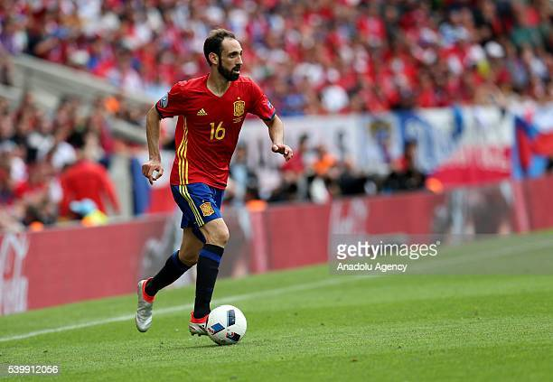 Juanfran of Spain in action during the UEFA EURO 2016 Group D match between Spain and Czech Republic in Toulouse France on June 13 2016