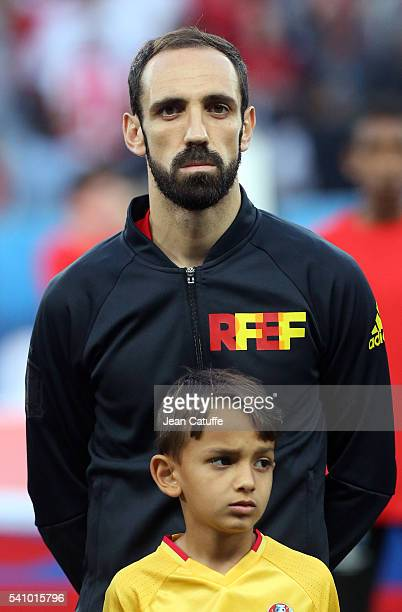Juanfran of Spain looks on before the UEFA EURO 2016 Group D match between Spain and Turkey at Allianz Riviera Stadium on June 17 2016 in Nice France