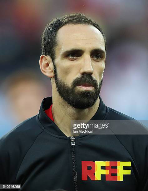 Juanfran of Spain looks on during the UEFA EURO 2016 Group D match between Spain and Turkey at Allianz Riviera Stadium on June 17 2016 in Nice France
