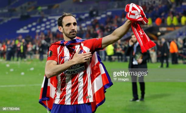 Juanfran Torres of Atletico Madrid celebrates after winning the UEFA Europa League Final between Olympique de Marseille and Club Atletico de Madrid...