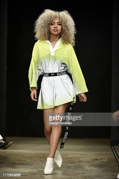 Juanialys walks the runway for Artistix S/S20 during New York Fashion Week on September 05 2019 in New York City