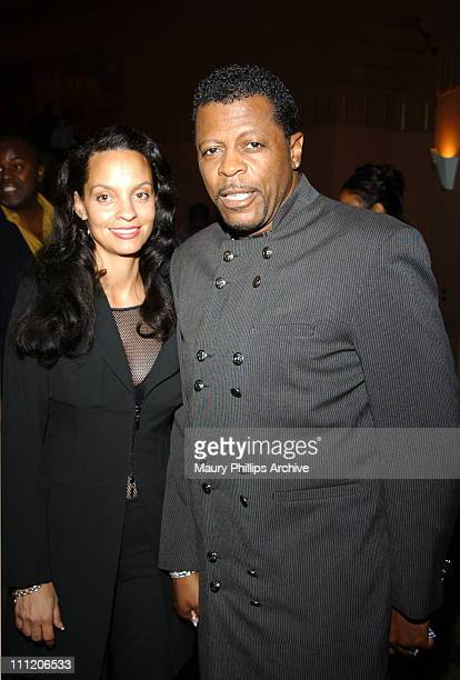 Juanita and Ali Ollie Woodson during New Babyface Musical 'Love Makes Things Happen' at The Wiltern Theater in Los Angeles California United States