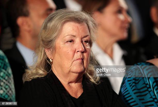 Juanita Broaddrick sits before the town hall debate at Washington University on October 9 2016 in St Louis Missouri This is the second of three...