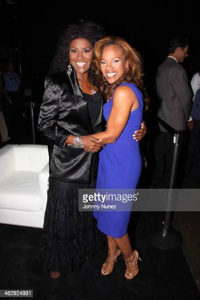 Juanita Bynum and Donna RichardsonJoyner attend the 2009 Essence Music Festival Presented by CocaCola at the Louisiana Superdome on July 3 2009 in...