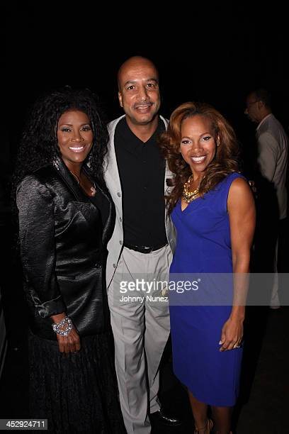 Juanita Bynum Mayor Ray Nagin and Donna RichardsonJoyner attend the 2009 Essence Music Festival Presented by CocaCola at the Louisiana Superdome on...