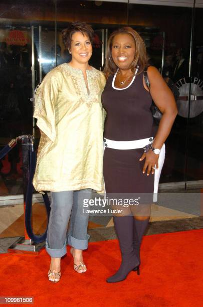 Juanita Jordan and Star Jones during I ROBOT New York Premiere Arrivals at Beekman Theater in New York City New York United States