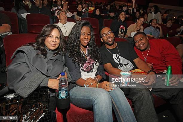 Juanita Jordan Jasmin Jordan Marcus Jordan and John Jordan attends a Screening of Notorious in Chicago at AMC River East on January 12 2009 in...