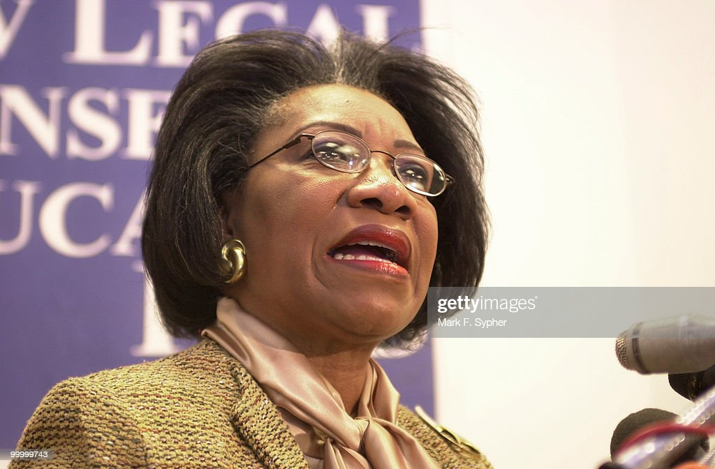 Juanita Millender-McDonald (D-CA) headed the presentation for the ribute of the brave women who have worked so hard at Ground Zero and other places dince the 9-11 attack on America.