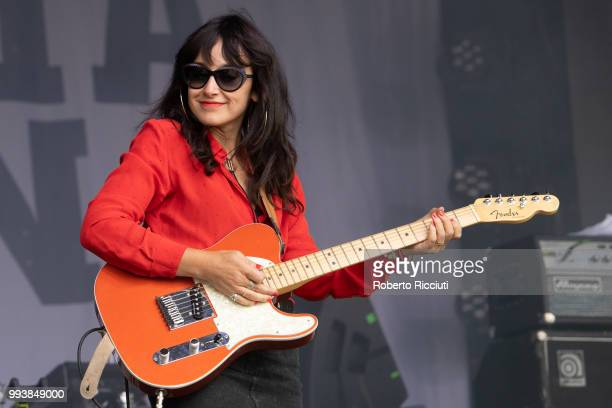 Juanita Stein performs on stage during TRNSMT Festival Day 5 at Glasgow Green on July 8 2018 in Glasgow Scotland