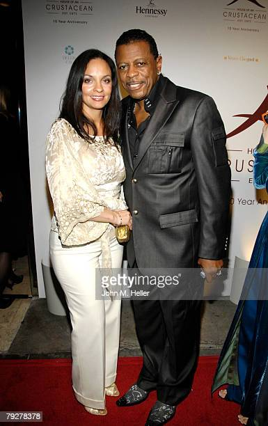 Juanita Woodson and Ali Woodson attend the 10th Anniversary of Crustacean Restaurant Beverly Hills on January 26 2008 in Beverly Hills California