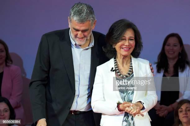 Juanma Iturriaga and President of the Spanish bank Banco Santander Ana Patricia Botin attend 10th 'Proyectos Sociales Banco de Santander' awards at...
