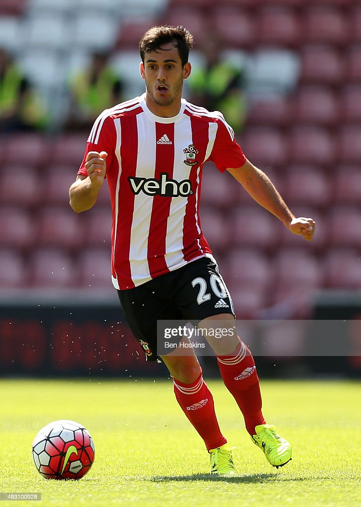 Juanmi of Southampton in action during the pre season friendly match between Southampton and Espanyol at St Mary's Stadium on August 2, 2015 in Southampton, England.