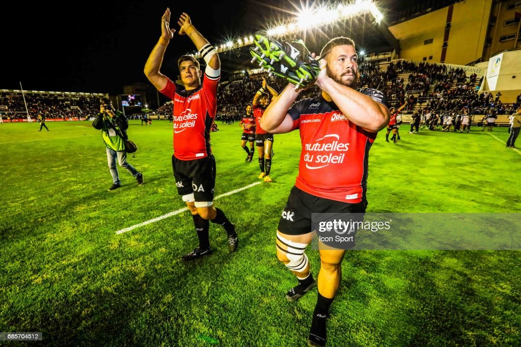 Juanne Smith of Toulon during the Top 14 match between RC Toulon and Castres Olympiques on May 19, 2017 in Toulon, France.