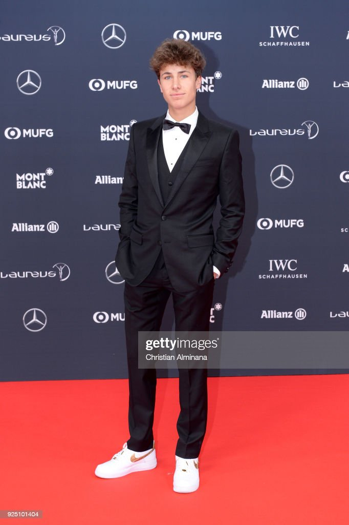 Juanpa Zurita attends the 2018 Laureus World Sports Awards at Salle des Etoiles, Sporting Monte-Carlo on February 27, 2018 in Monaco, Monaco.