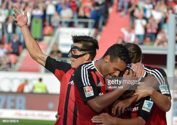 Jubel bei Stefan Lex und Alfredo Morales Marvin Matip nach dem Tor zum 20 waehrend dem Fussball Bundesliga Spiel FC Ingolstadt gegen Eintracht...