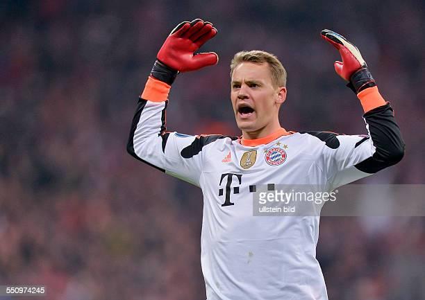 Jubel bei Torwart Manuel Neuer nach dem Tor von Mario Mandzukic waehrend dem Viertelfinal Rueckspiel zur UEFA Champions League FC Bayern Muenchen...