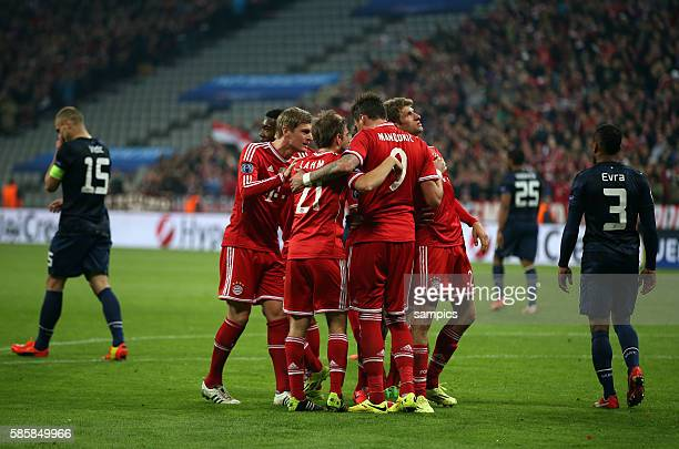 1 von Thomas Müller Fussball Uefa Championsleague Viertelfinale Rückspiel FC Bayern München Manchester United