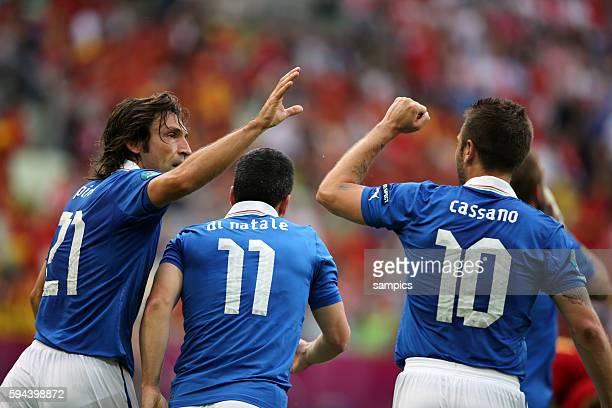 Andrea Pirlo Antonio Di Natale Antonio Cassano Fussball EM 2012 Spanien Italien UEFA EURO 2012 Group C Spain vs Italy 10612