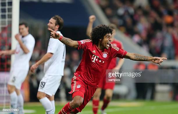 Jubel von Dante FC Bayern München nach dem 40 1 Bundesliga Fussball FC Bayern München Hannover 96 50 Saison 2012 / 2013