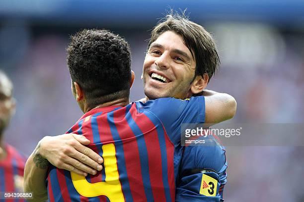 Jubel von Jonathan Soriano FC Barcelona Fussball Vorbereitung FC Barcelona Saison 2011 / 2012