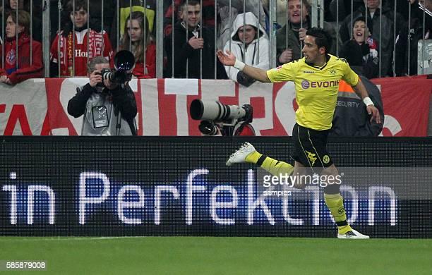 JUbel von Lukas Barrios in Perfektion Fussball Bundesliga FC Bayern Munchen Borussia Dortmund 1 3 2622011 Fussball Bundesligasaison 2010 / 2011