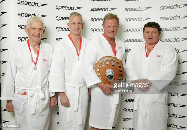 A jubilant House of Lords team Lord Stoneham of Droxford The Lord Paddick team captain Lord St John of Bletso and The Lord Addington pose after...