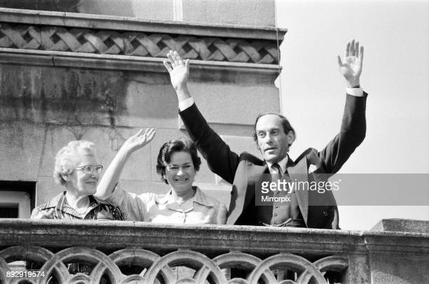 Jubilant Jeremy Thorpe and his wife Marion after his acquittal at the Old Bailey from the charge of inciting to murder, 22nd June 1979.