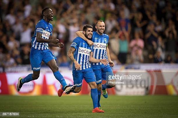 Jubilation after scoring of Alejandro Pozuelo midfielder of KRC Genk pictured during the Jupiler Pro League match between KRC Genk and Zulte Waregem...
