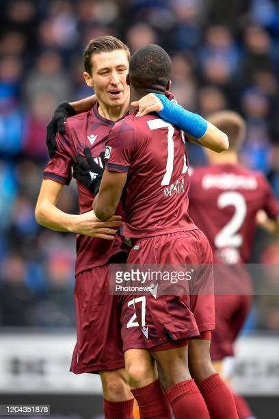 jubilation after scoring of Charles De Ketelaere midfielder of Club Brugge during the Jupiler Pro League match between KRC Genk and Club Brugge KV on...
