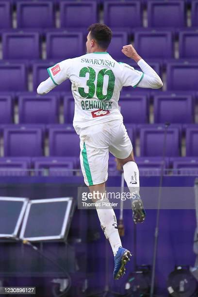 Jubilation by the goal scorer Raffael Behounek of WSG Tirol during the tipico Bundesliga match between FK Austria Wien and WSG Swarovski Tirol at...