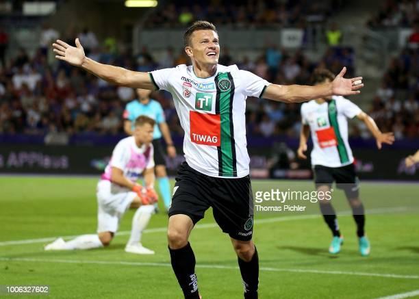 Jubilation by Zlatko Dedic of FC Wacker Innsbruck during the tipico Bundesliga match between FK Austria Wien and FC Wacker Innsbruck at Generali...