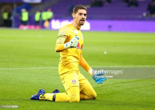 Jubilation over the master title by Cican Stankovic of Red Bull Salzburg during the tipico Bundesliga match between Austria Wien and RB Salzburg at...
