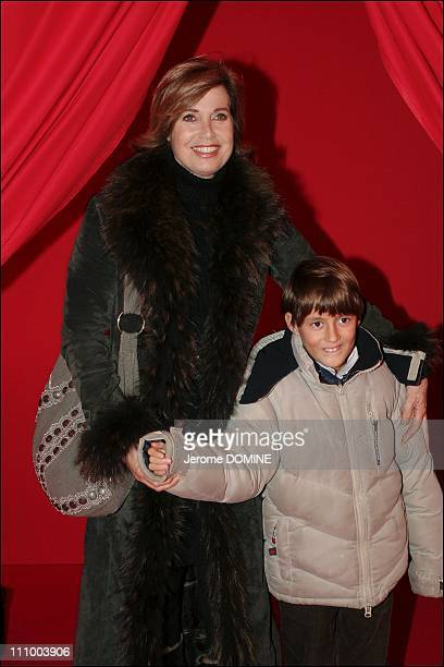 Jubile Cirque Phenix by Moscow circus stars - Catherine Alric and her daughter in Paris, France on December 04th, 2006.