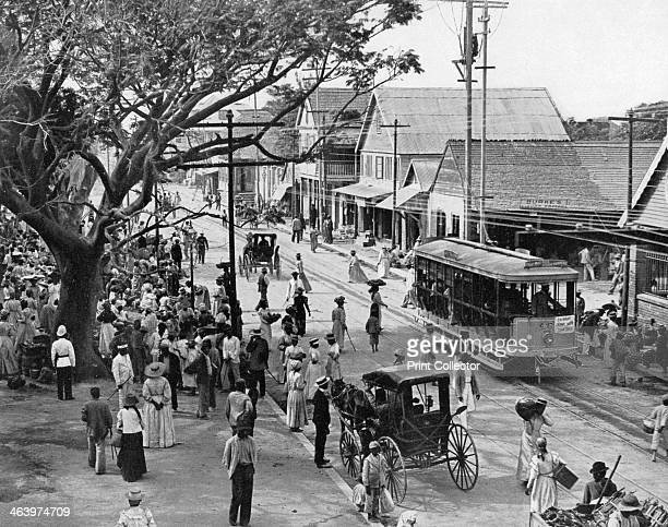 Jubilee Market Square Kingston Jamaica c1905 Photograph from Picturesque Jamaica by Adolphe Duperly Son