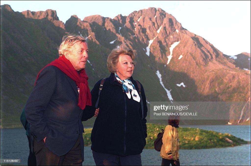 Jubilee Of King Harald And Queen Sonja Of Norway In Trondheim, Norway On June 21, 1997. : Nieuwsfoto's