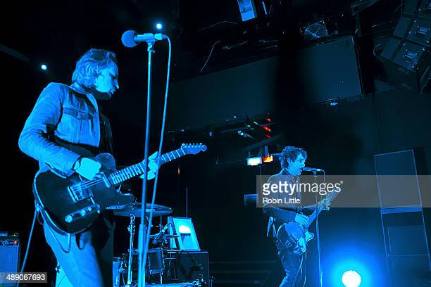 Judah Bauer and Jon Spencer of Jon Spencer Blues Explosion perform on stage at KOKO on May 9 2014 in London United Kingdom