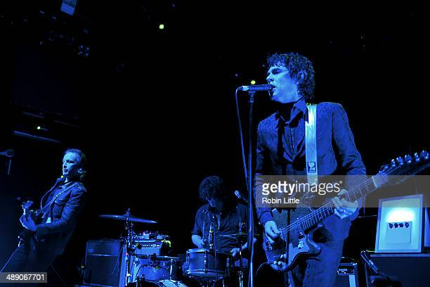 Judah Bauer Russell Simins and Jon Spencer of Jon Spencer Blues Explosion perform on stage at KOKO on May 9 2014 in London United Kingdom